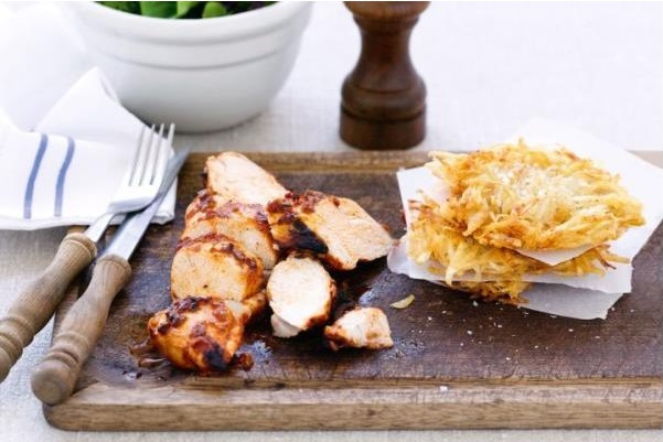 Chicken with Potato Cake Recipe
