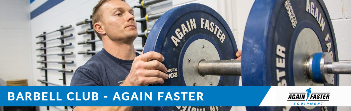 Again Faster Barbell Club Banner