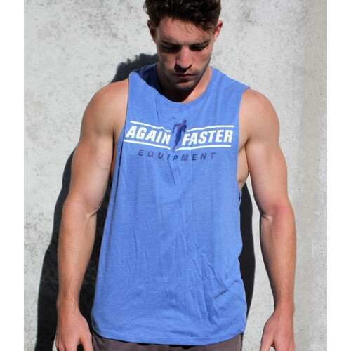 Muscle Tee - Again Faster - Blue